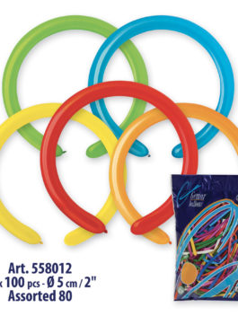 Balloons D260 ASSORTMENT (100 UNIT)