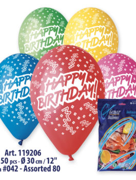 Balloons Happy Birthday 12 Inch