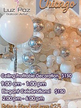 Ceiling profitable decoration & Elegant Celebrations –  Chicago May 6