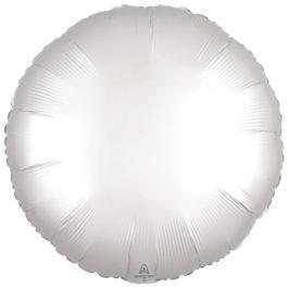 Satin Luxe White Round