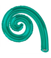 Kurly Spiral Turquoise Green