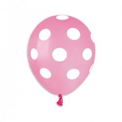 MINI Polka Pink-White 13 cm / 5in
