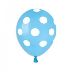 MINI Polka Light Blue-White Polka 13 cm / 5in