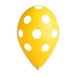 Polka Yellow-White