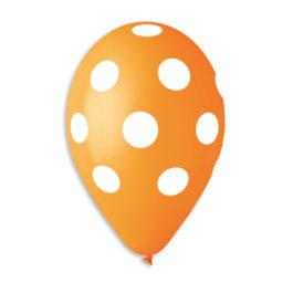 Polka Orange-White
