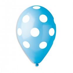 Polka White-Light Blue Dots 30 cm / 12in