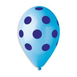 Polka Clear Light Blue-Navy Blue