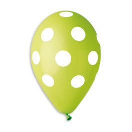 Polka Light Green-White