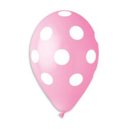 Polka Pink 57/White dots