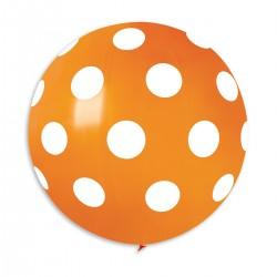 Polka Orange 80 cm / 31in