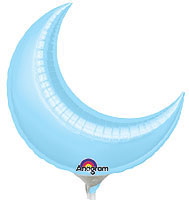 Pastel Blue Crescent