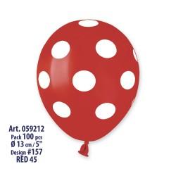 MINI Polka Dots  Red 13 cm x 5 in