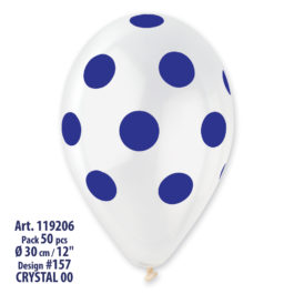 Clear Polka Dots Dark Blue Printed