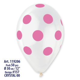 Clear Polka Dots Rose Printed