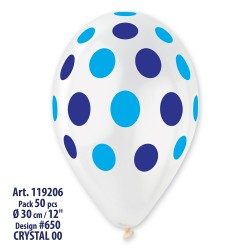 Polka Clear  Blue Blue 30 cm x 12 in