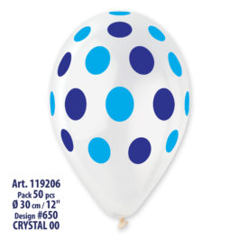 Polka Clear  Blue Blue