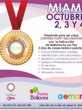 Miami Octubre 2,3 y 4 – Certified Party Decorators