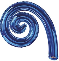 Kurly Spiral Radiant Blue