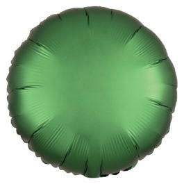 Satin Luxe Jade (Green) Round