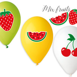 Special Printed  Balloons Mix Fruits