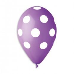 Polka Lavender-White 30 cm / 12in