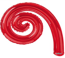 Kurly Spiral Red