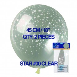 Stars-A-Round Clear Balloons – Stuffing or Air Fill 45cm / 18in