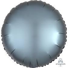 Satin luxe  steel blue Round