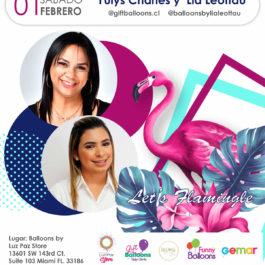 Let's Flamingle – Yulys Charles  y Lia Leottau – Miami 01 Febrero