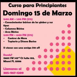 Curso para principiantes 15 Marzo