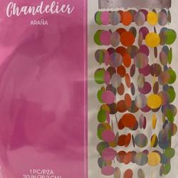 Chandelier Araña de Colores 30in