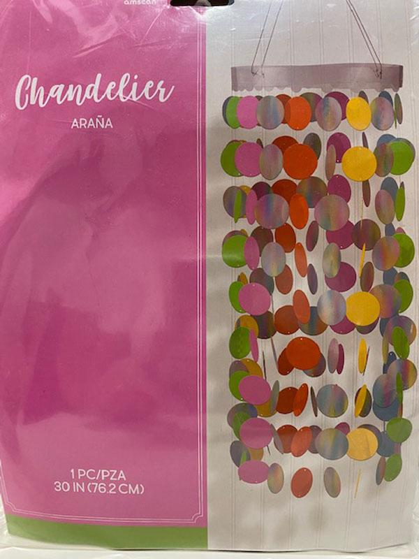 Chandelier araña de colores