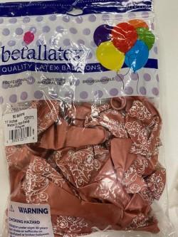betallatex 11 50 globos rose gold -rallas