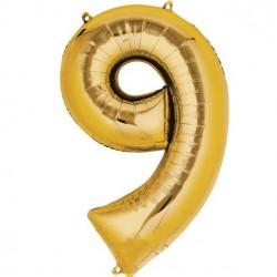 Number 9 gold 7in