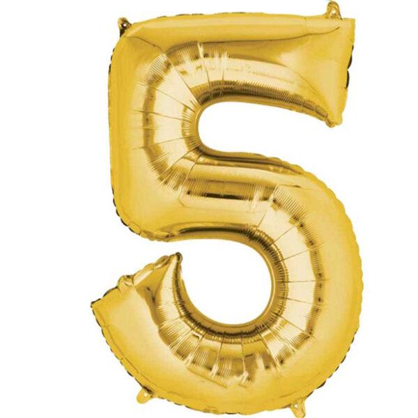 Foil Number 7″ 5 Gold