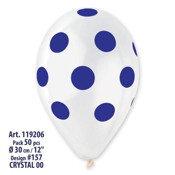 GS110: #000 Crystal Clear/Blue Polka Dot 119206