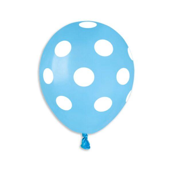 Standard Polka Dot Light Blue/White #009 – 5in
