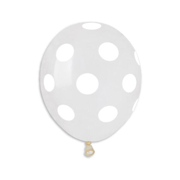 Crystal Polka Dot Clear/White #000 – 5in