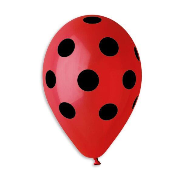 GS110: #045 Red/Black Polka Dot 119206