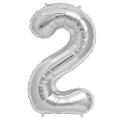 Foil Number 7″ 2 Silver