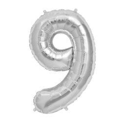 Foil Number 7″ 9 Silver