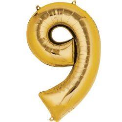 Foil Number 7″ 9 Gold