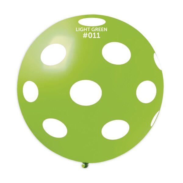 GS30: #011 Light Green/White Polka Dot 327373