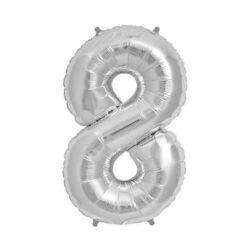 Foil Number 7″ 8 Silver