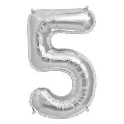 Foil Number 7″ 5 Silver