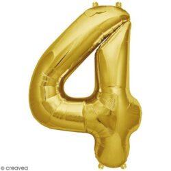Foil Number 7″ 4 Gold