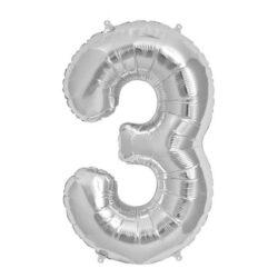 Foil Number 7″ 3 Silver