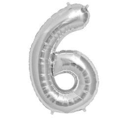 Foil Number 7″ 6 Silver