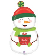 42″ foil Smiling Snow Man