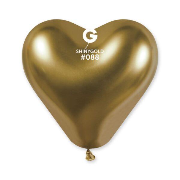 Shiny Heart Shape Gold #088 – 12in